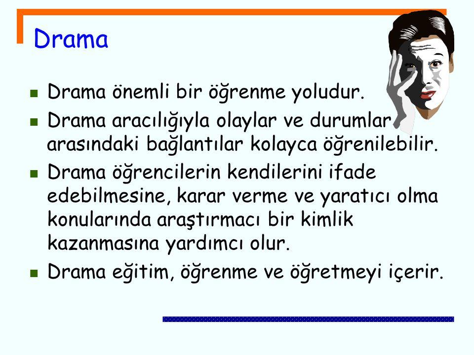 Drama Drama önemli bir öğrenme yoludur.