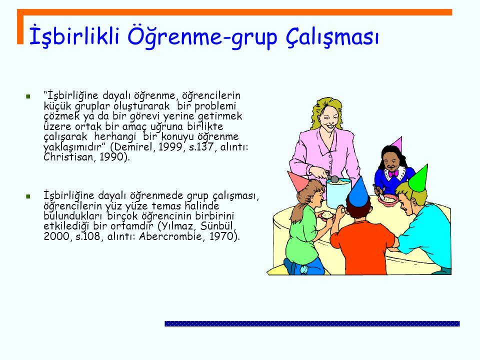 İşbirlikli Öğrenme-grup Çalışması