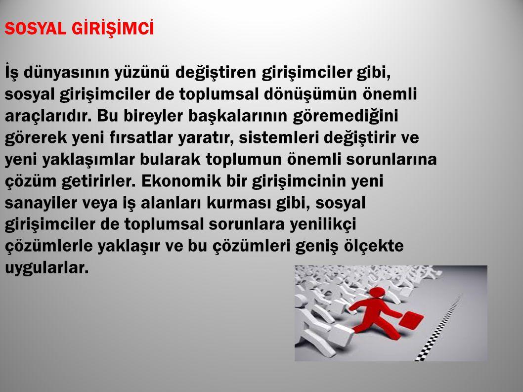 SOSYAL GİRİŞİMCİ