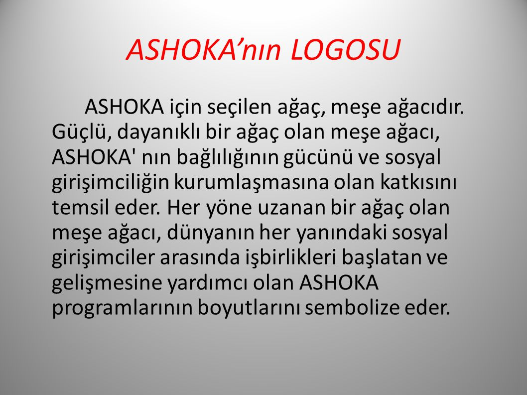 ASHOKA'nın LOGOSU