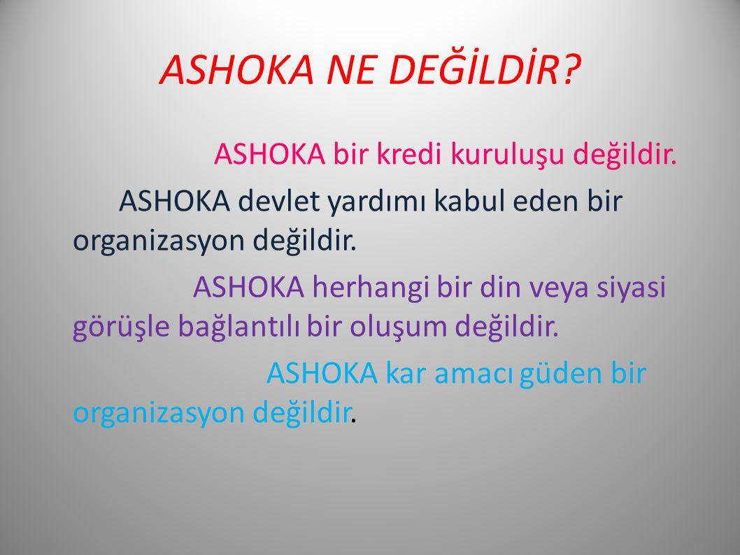ASHOKA NE DEĞİLDİR