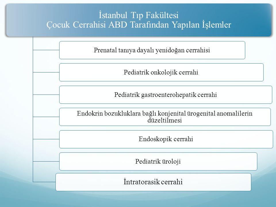 İstanbul Tıp Fakültesi Çocuk Cerrahisi ABD Tarafından Yapılan İşlemler