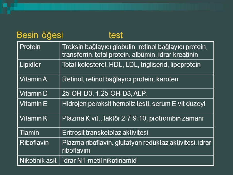 Besin öğesi test Protein