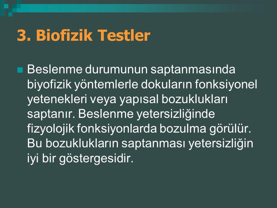 3. Biofizik Testler
