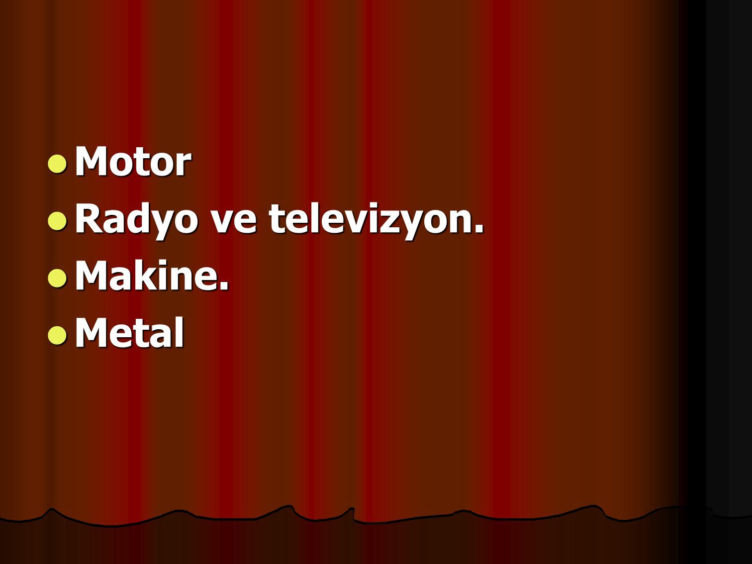 Motor Radyo ve televizyon. Makine. Metal