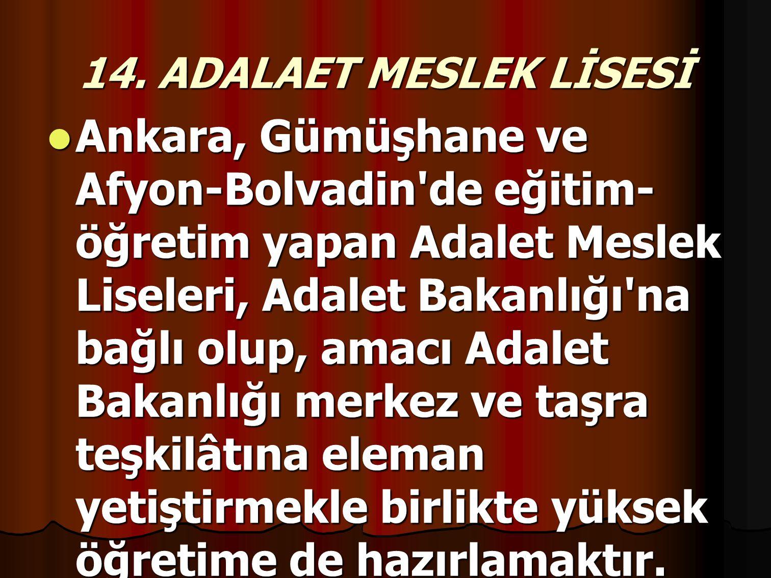 14. ADALAET MESLEK LİSESİ