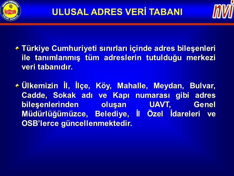 ULUSAL ADRES VERİ TABANI