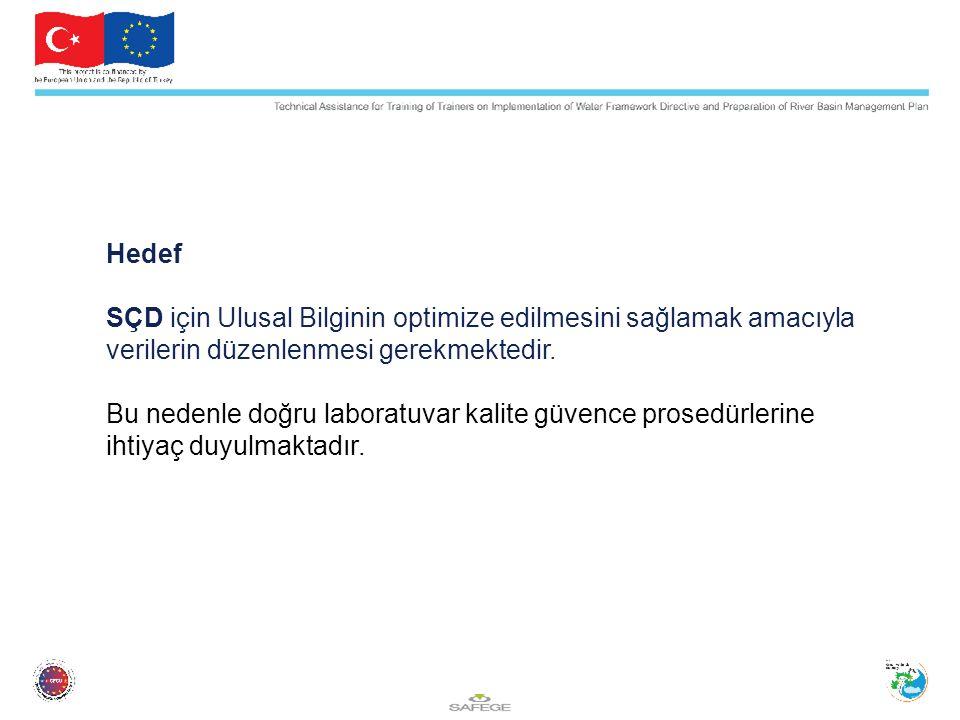Hedef SÇD için Ulusal Bilginin optimize edilmesini sağlamak amacıyla verilerin düzenlenmesi gerekmektedir.