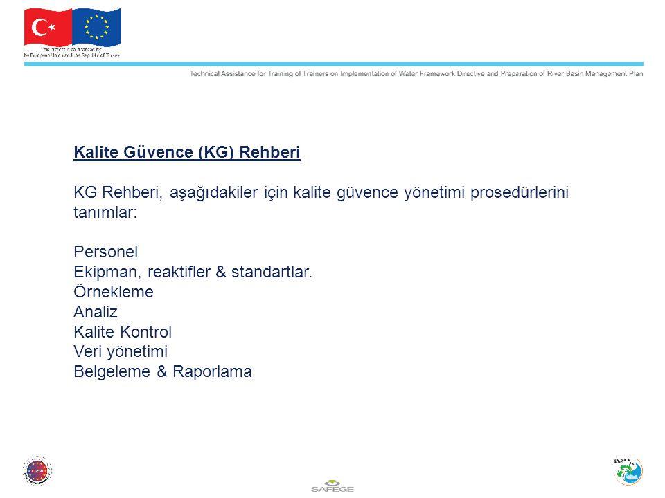 Kalite Güvence (KG) Rehberi KG Rehberi, aşağıdakiler için kalite güvence yönetimi prosedürlerini tanımlar: Personel Ekipman, reaktifler & standartlar.