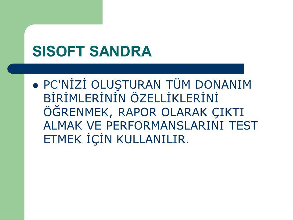 SISOFT SANDRA