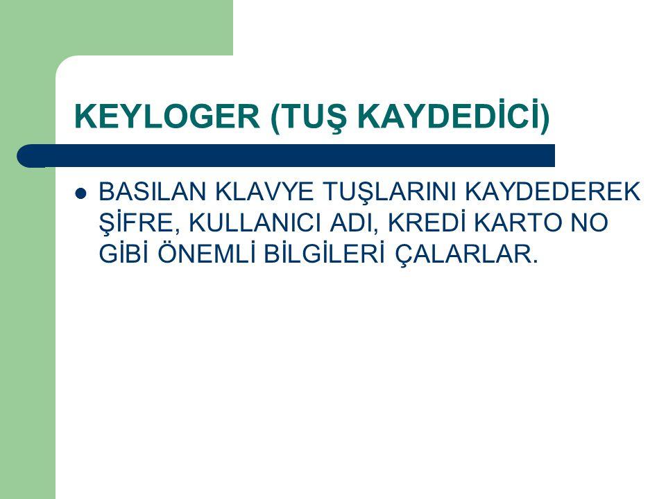 KEYLOGER (TUŞ KAYDEDİCİ)