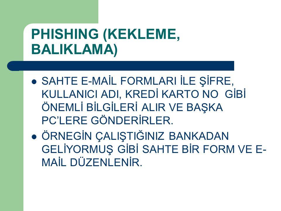 PHISHING (KEKLEME, BALIKLAMA)