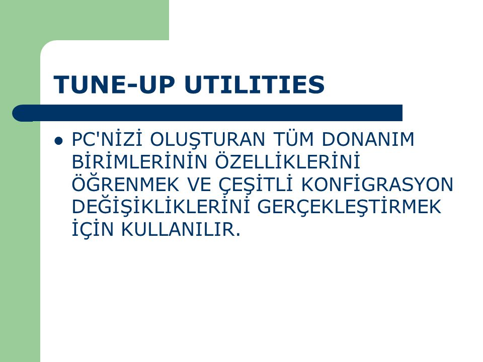 TUNE-UP UTILITIES