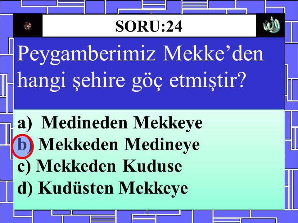 Peygamberimiz Mekke'den hangi şehire göç etmiştir
