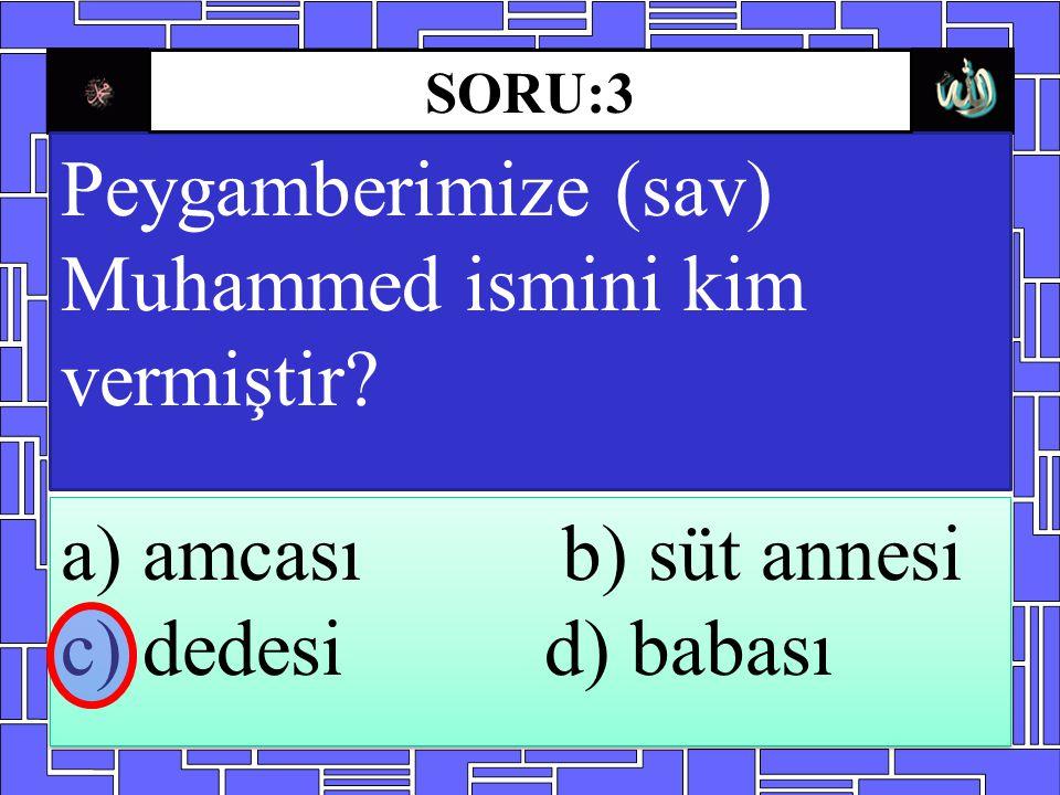 Peygamberimize (sav) Muhammed ismini kim vermiştir