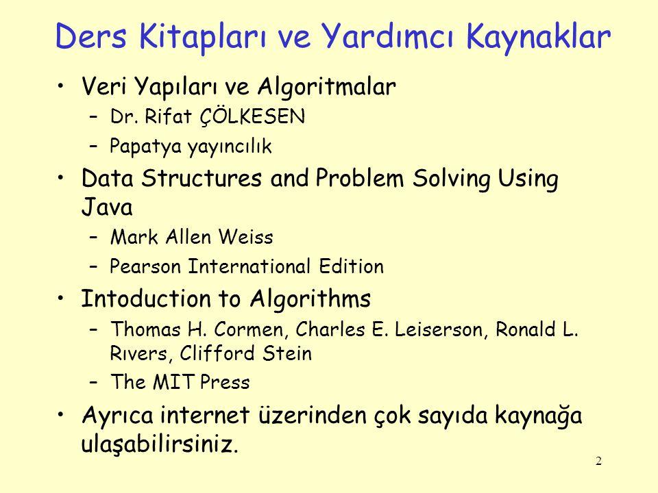 Ders Kitapları ve Yardımcı Kaynaklar