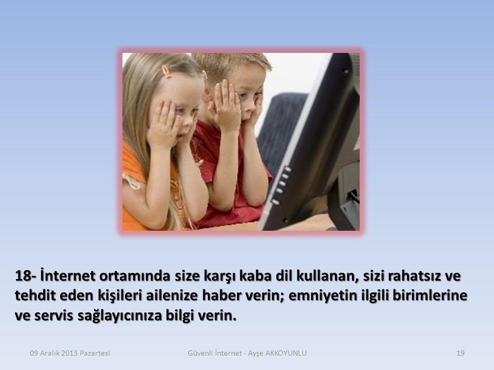 Güvenli İnternet - Ayşe AKKOYUNLU