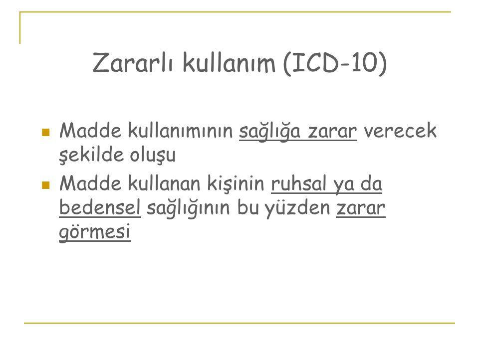 Zararlı kullanım (ICD-10)