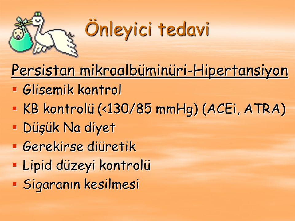 Önleyici tedavi Persistan mikroalbüminüri-Hipertansiyon