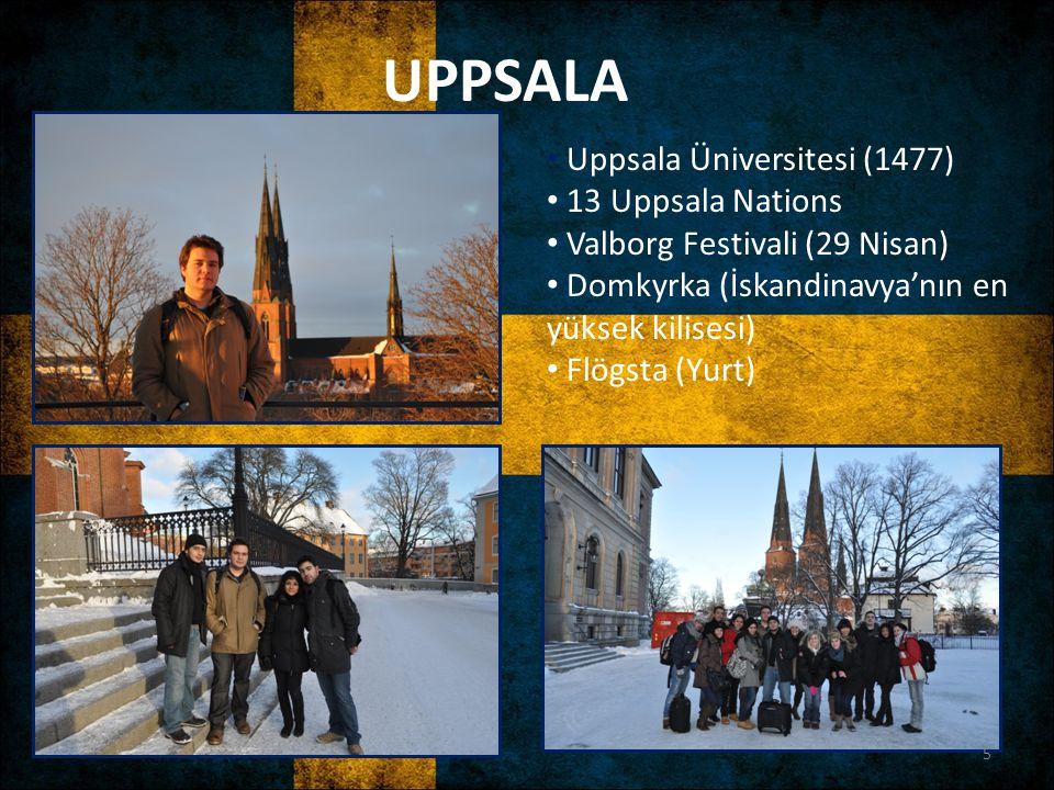 UPPSALA Uppsala Üniversitesi (1477) 13 Uppsala Nations
