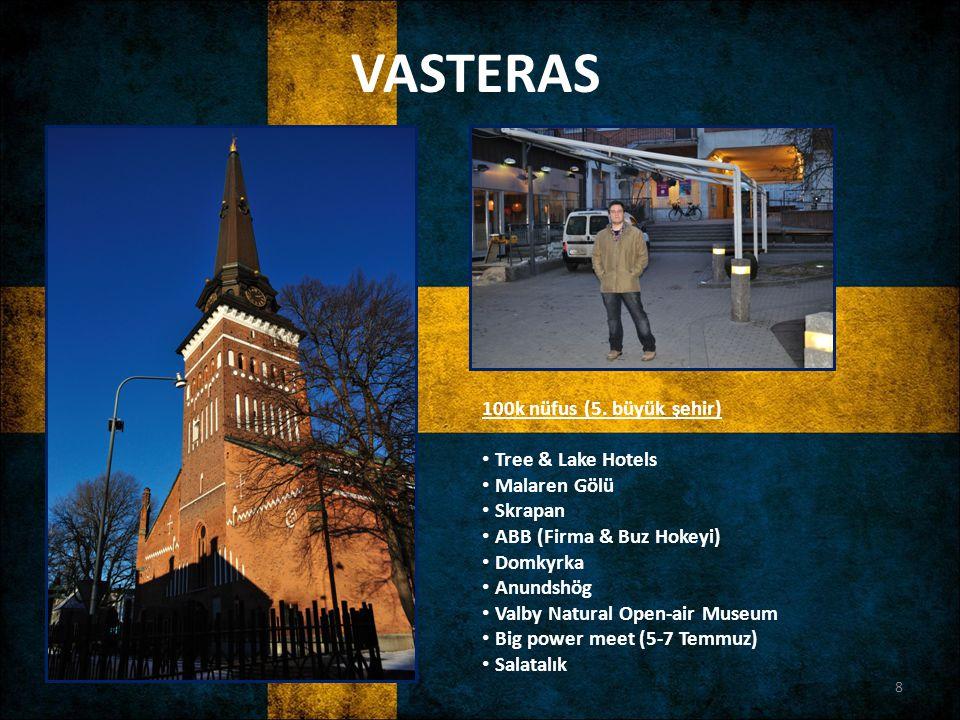 VASTERAS 100k nüfus (5. büyük şehir) Tree & Lake Hotels Malaren Gölü