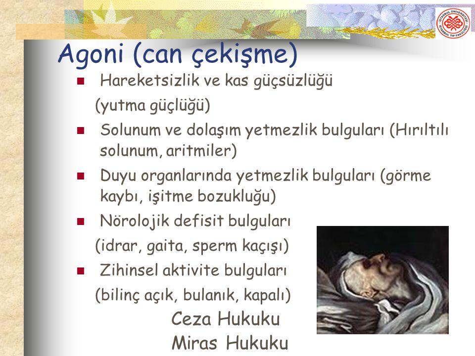 Agoni (can çekişme) Ceza Hukuku Miras Hukuku