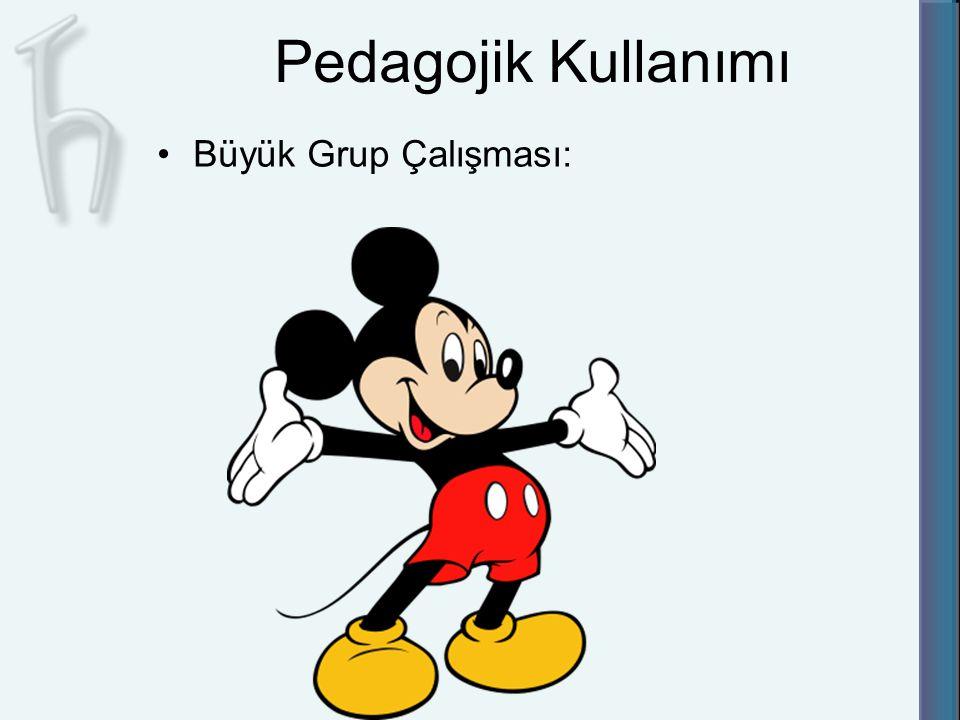 Pedagojik Kullanımı Büyük Grup Çalışması: