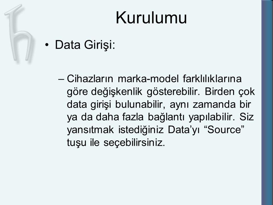 Kurulumu Data Girişi: