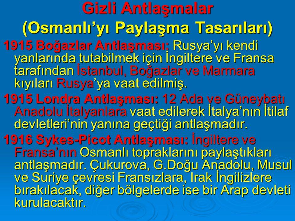 (Osmanlı'yı Paylaşma Tasarıları)