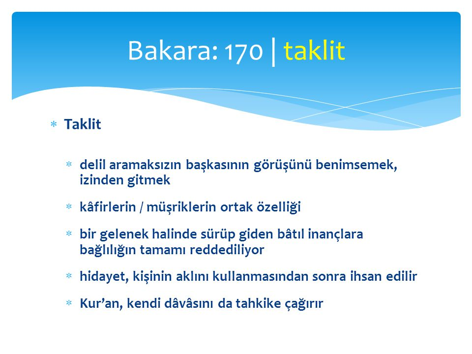 Bakara: 170 | taklit Taklit