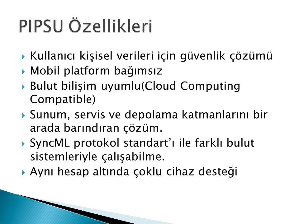 PIPSU Özellikleri Kullanıcı kişisel verileri için güvenlik çözümü