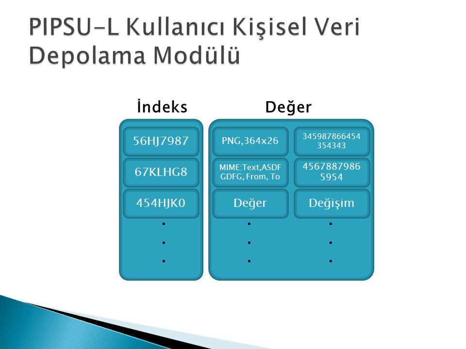 PIPSU-L Kullanıcı Kişisel Veri Depolama Modülü