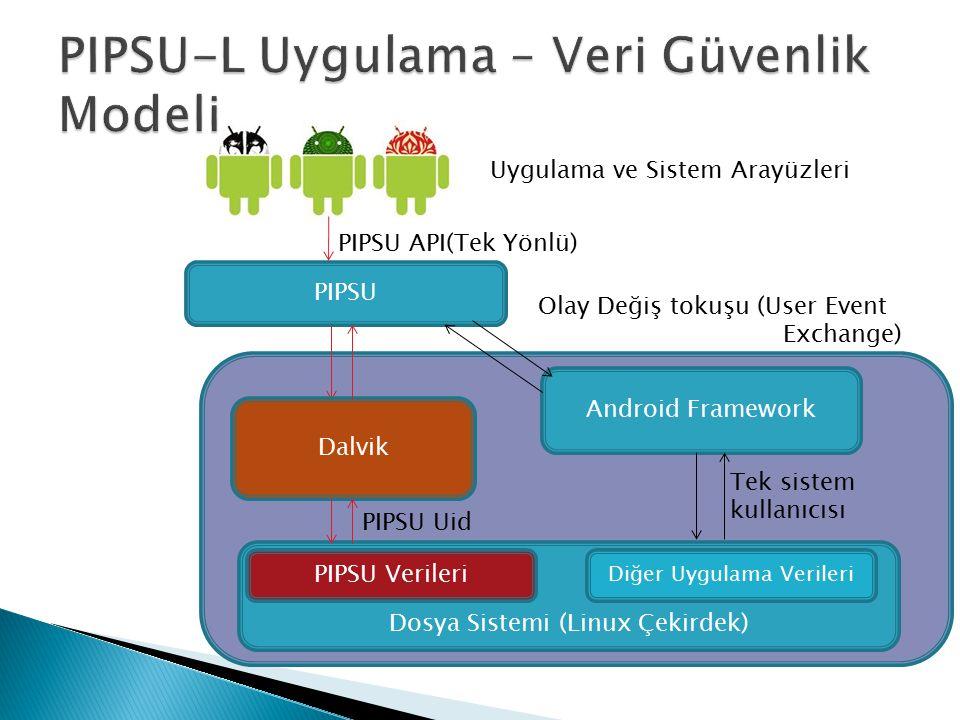 PIPSU-L Uygulama – Veri Güvenlik Modeli
