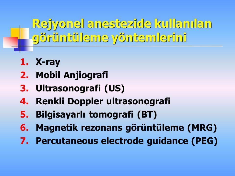 Rejyonel anestezide kullanılan görüntüleme yöntemlerini