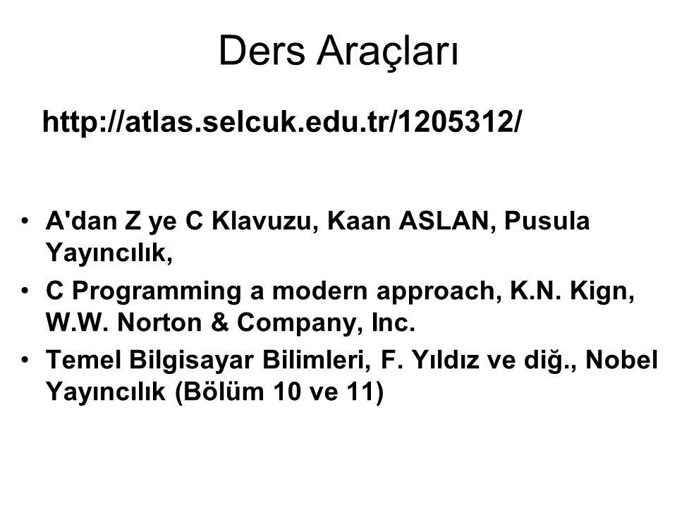 Ders Araçları http://atlas.selcuk.edu.tr/1205312/
