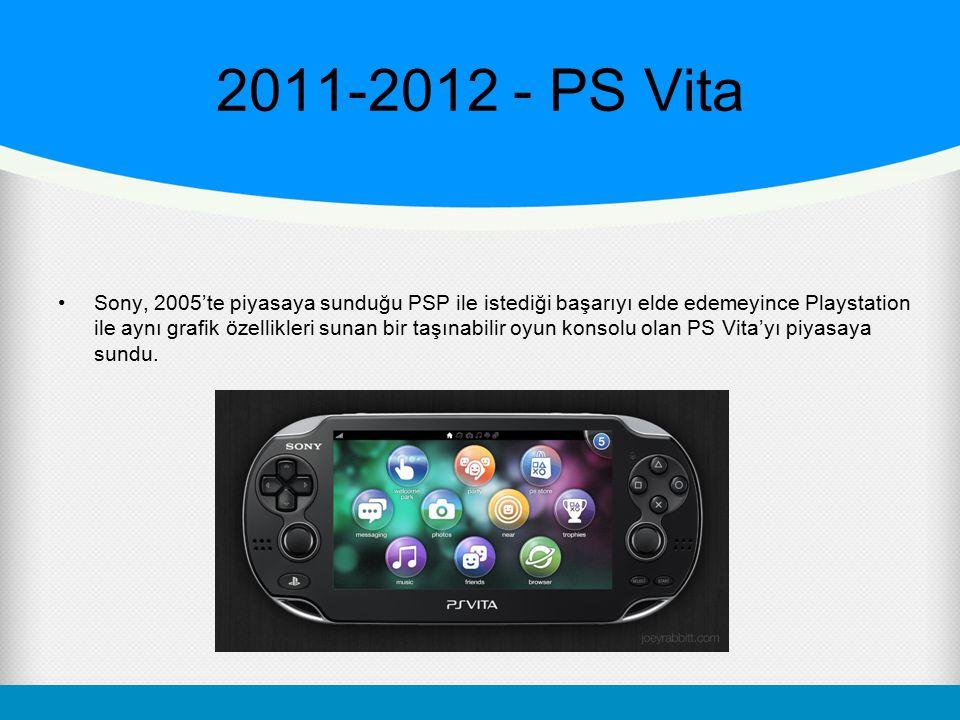 2011-2012 - PS Vita