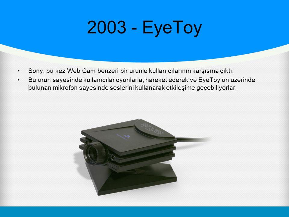 2003 - EyeToy Sony, bu kez Web Cam benzeri bir ürünle kullanıcılarının karşısına çıktı.