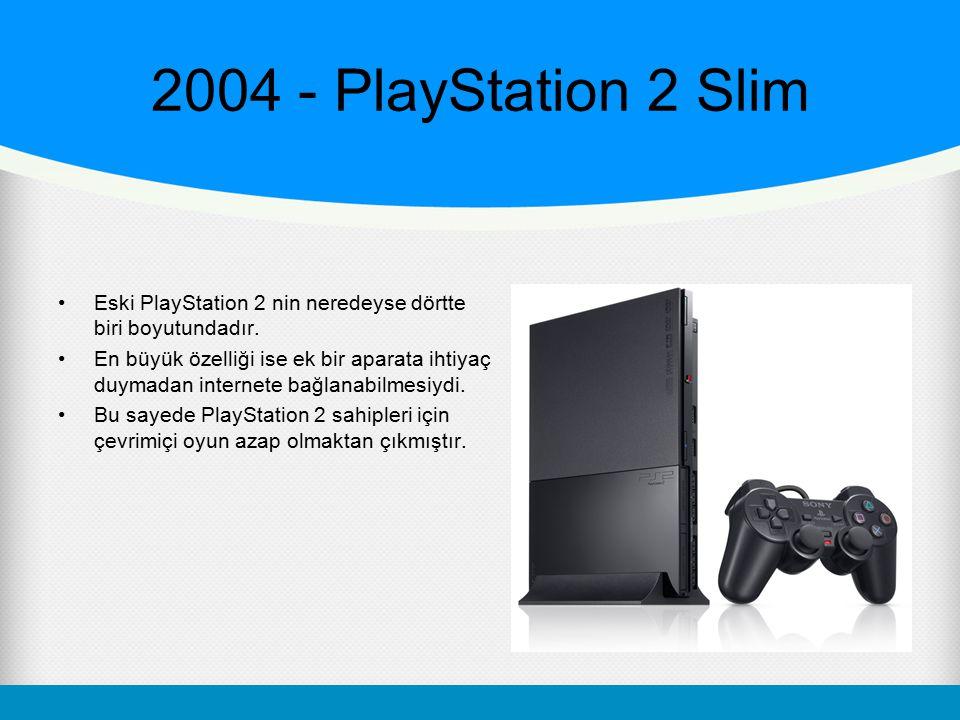 2004 - PlayStation 2 Slim Eski PlayStation 2 nin neredeyse dörtte biri boyutundadır.