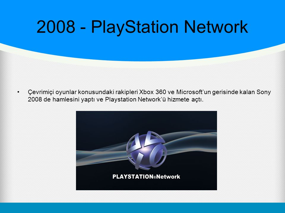 2008 - PlayStation Network