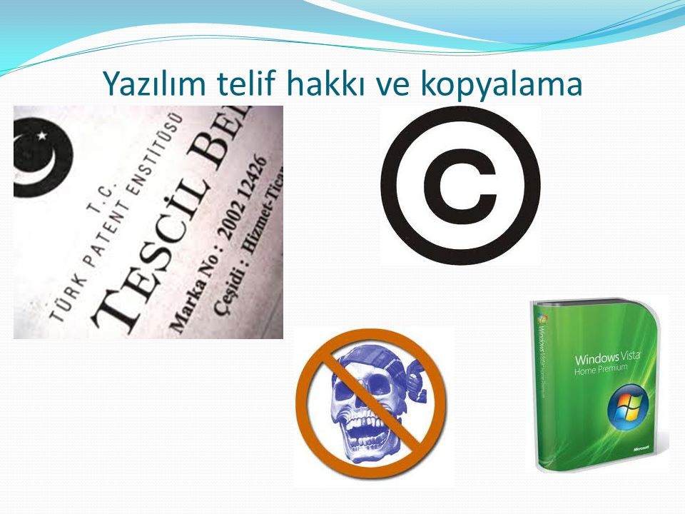 Yazılım telif hakkı ve kopyalama