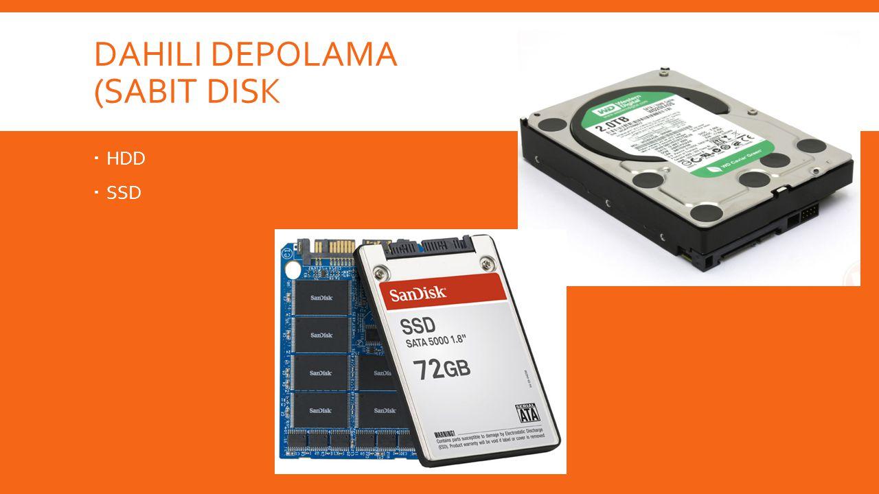 Dahili depolama (Sabit disk