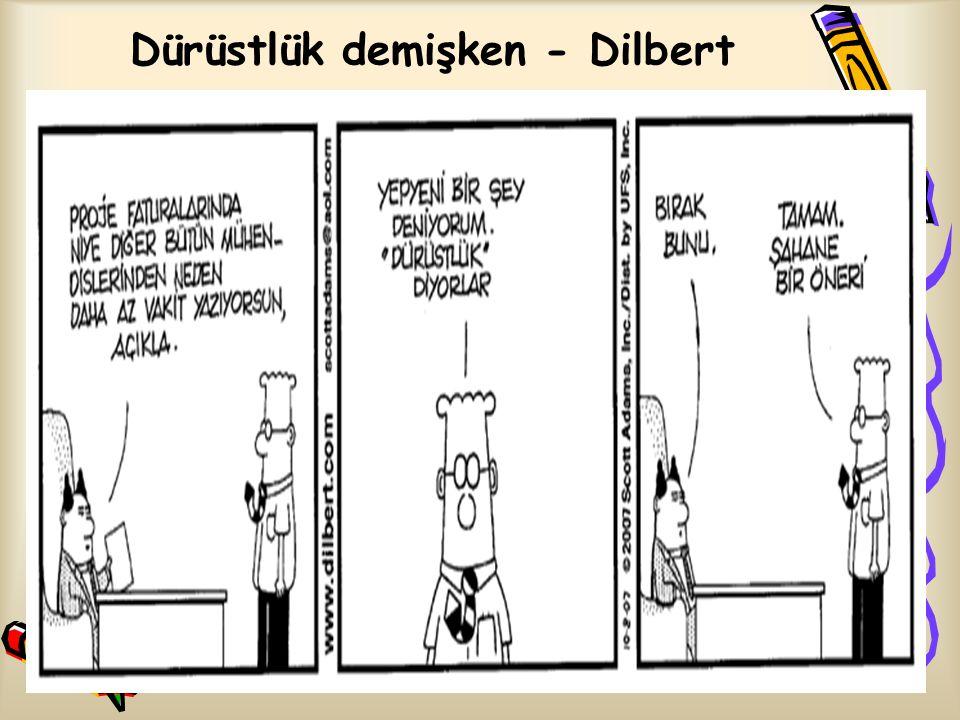 Dürüstlük demişken - Dilbert