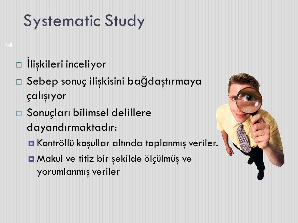 Systematic Study İlişkileri inceliyor