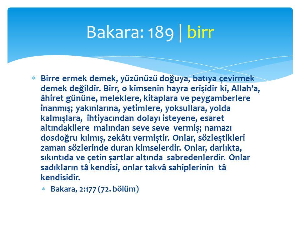 Bakara: 189 | birr