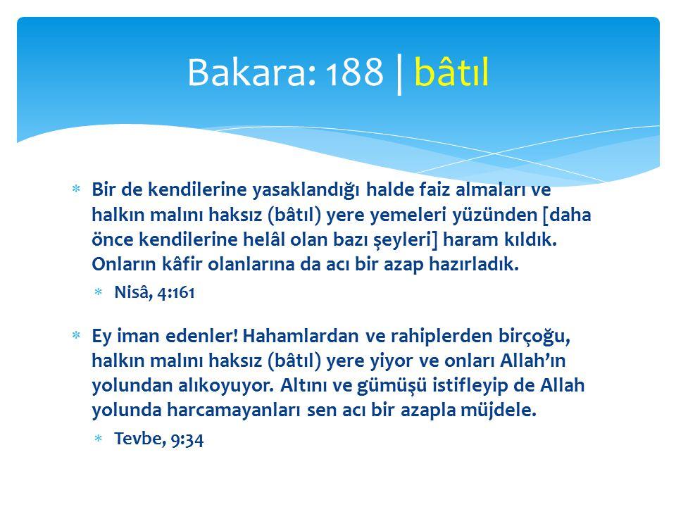 Bakara: 188 | bâtıl