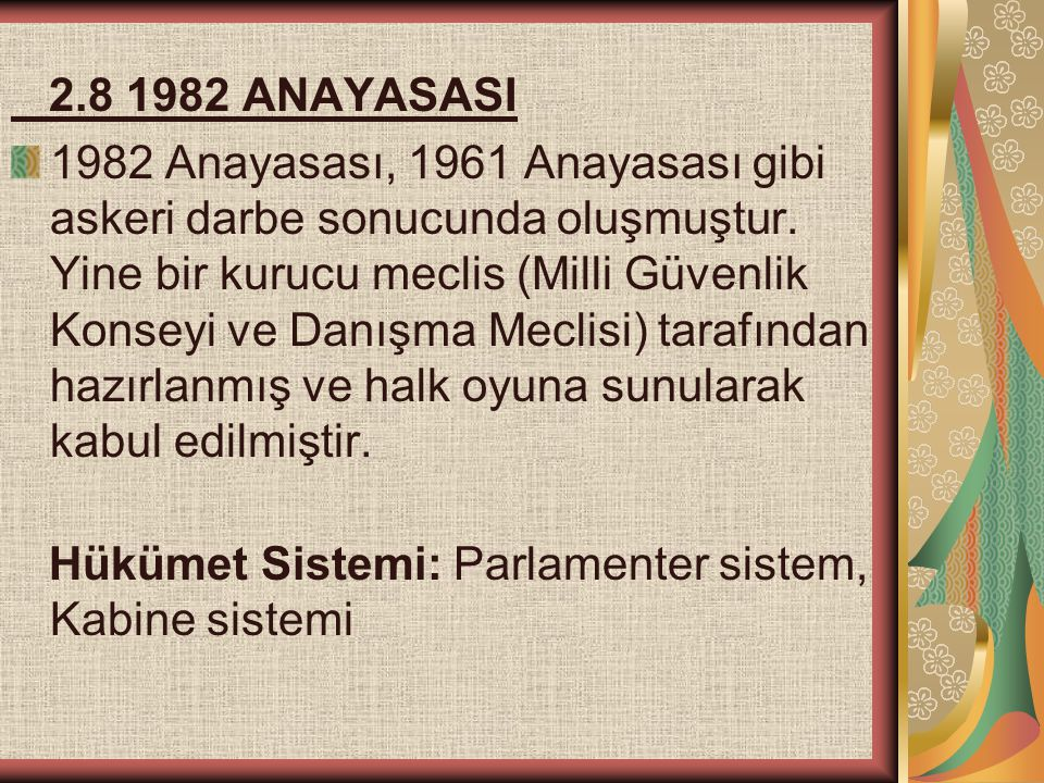 2.8 1982 ANAYASASI