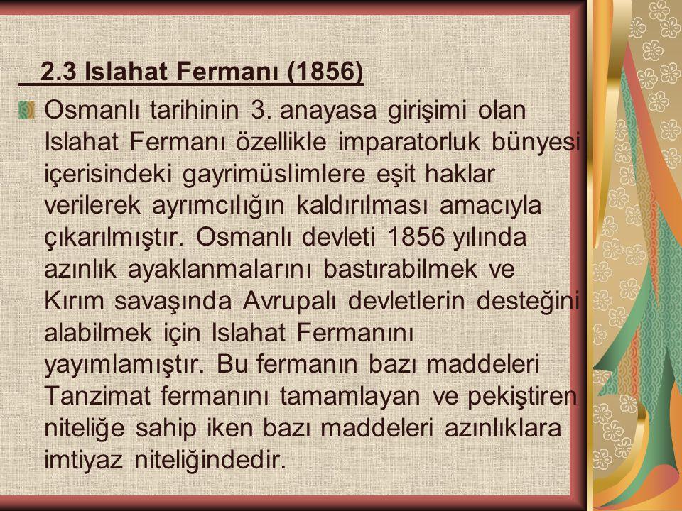 2.3 Islahat Fermanı (1856)