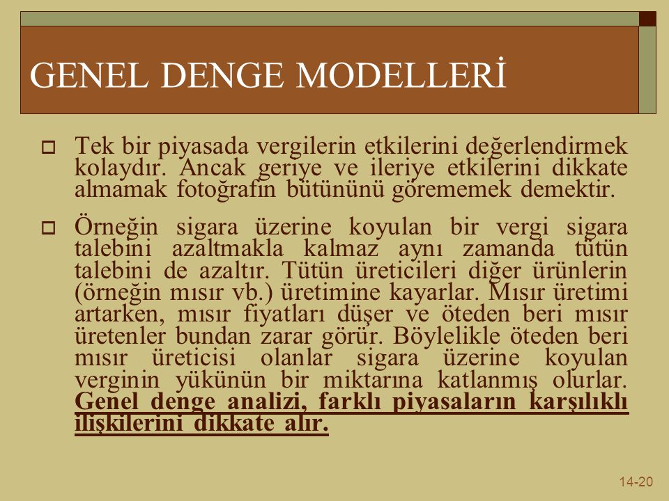 GENEL DENGE MODELLERİ