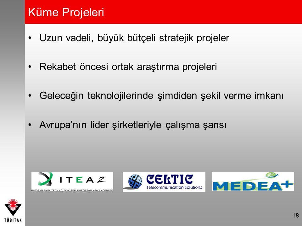 Küme Projeleri Uzun vadeli, büyük bütçeli stratejik projeler