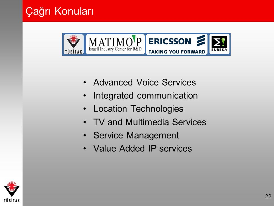 Çağrı Konuları Advanced Voice Services Integrated communication